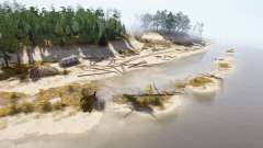 The sandy spit of the river for MudRunner