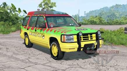 Gavril Roamer Tour Car Jurassic Park v4.2 for BeamNG Drive