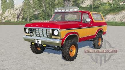 Ford Bronco Custom Wagon (U150) 197৪ for Farming Simulator 2017