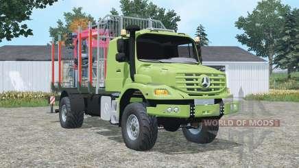Mercedes-Benz Zetros 1833 A timber truck for Farming Simulator 2015