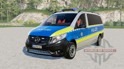Mercedes-Benz Vito Kastenwagen (W447) Polizeᶖ for Farming Simulator 2017