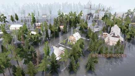 Flooded village for MudRunner