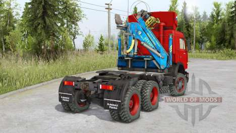 Kamaz 54115 6 x6 for Spin Tires