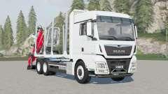 MAN TGX 26.640 XLX cab Timber Truck for Farming Simulator 2017