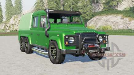 Land Rover Defender 110 6x6 Double Cab Pickup for Farming Simulator 2017