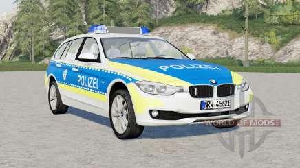 BMW 318d Touring Polizei FuStW (F31) 2015 for Farming Simulator 2017