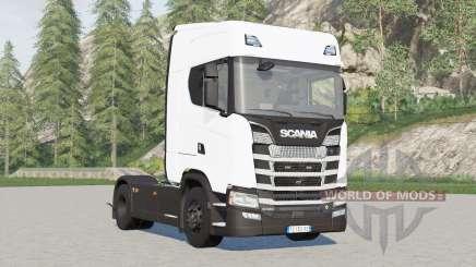 Scania S580 4x4 Highline〡for pulling semitrailer for Farming Simulator 2017