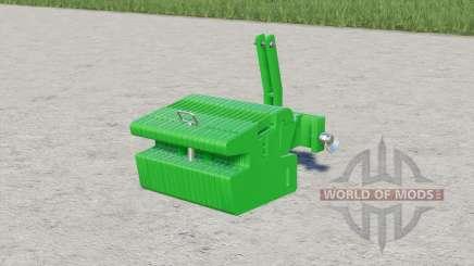 John Deere slice weight for Farming Simulator 2017
