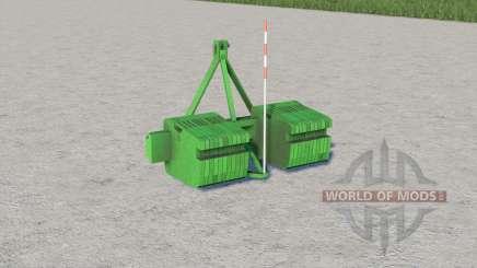 John Deere double weight for Farming Simulator 2017