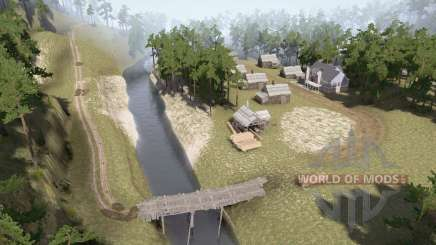 Village by the river for MudRunner
