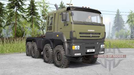 Kamaz 65228〡s cargo for Spin Tires