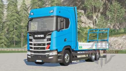 Scania S-series Highline〡platform for bale v1.3 for Farming Simulator 2017