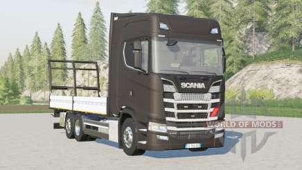 Scania S-series Highline〡platform for bale for Farming Simulator 2017