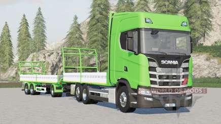 Scania S-series Highline〡platform for bale v1.3.0.3 for Farming Simulator 2017