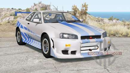 Nissan Skyline GT-R (R34) 2 Fast 2 Furious for BeamNG Drive