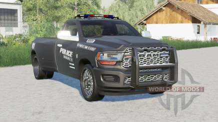 Ram 3500 Regular Cab Dually (D2) 2019〡Police for Farming Simulator 2017