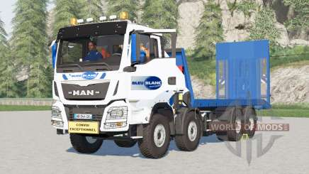 MAN TGS 41.480 plateau Bleu Blanc for Farming Simulator 2017