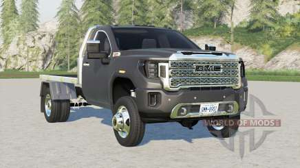 GMC Sierra 3500 HD Regular Cab Flatbed for Farming Simulator 2017