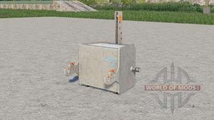 Concrete weight 750 kg. for Farming Simulator 2017