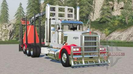 Kenworth W900 Log Truck for Farming Simulator 2017
