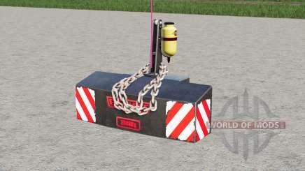 Fendt weight 2500 kg. for Farming Simulator 2017
