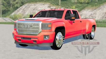 GMC Sierra 3500 HD Denali Crew Cab 2015〡lowered for Farming Simulator 2017
