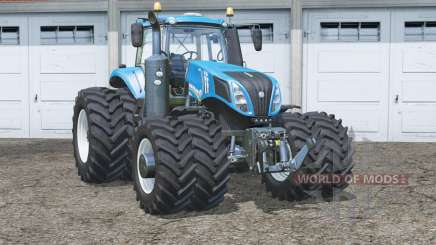 New Holland T8.435〡wheels have collision for Farming Simulator 2015