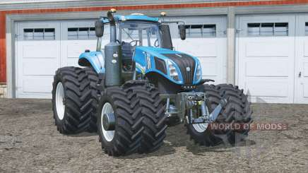 New Holland T8.435〡increased shock stiffness for Farming Simulator 2015