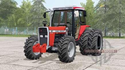 Massey Ferguson 297 Turbo〡dual rear wheels for Farming Simulator 2017