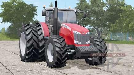 Massey Ferguson 8670〡dual rear wheels for Farming Simulator 2017