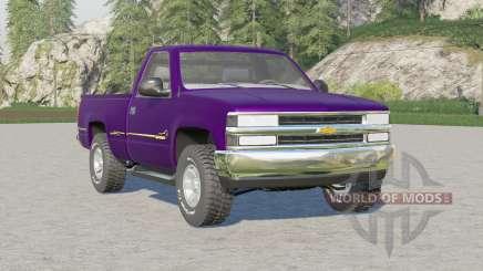 Chevrolet Silverado D20 Regular Cab〡color choice for Farming Simulator 2017