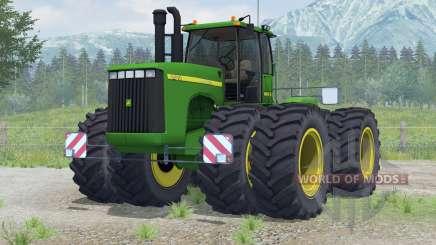 John Deere 9400〡added wheels for Farming Simulator 2013