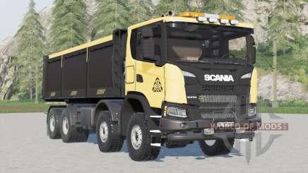 Scania G 370 XT 8x8 tipper 2017〡FS Miners Edition for Farming Simulator 2017