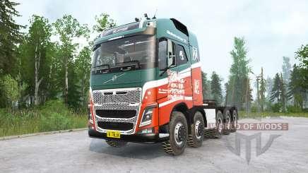 Volvo FH16 750 10x10 Globetrotter XL for MudRunner