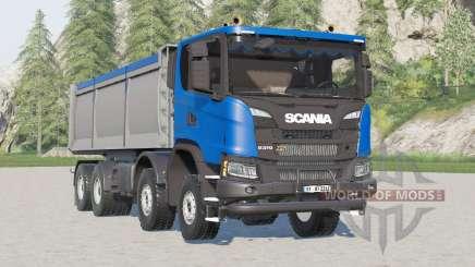 Scania G 370 XT 8x8 tipper 2017 for Farming Simulator 2017