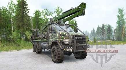 Ural Next (4320-74E5) timber truck with manipulator for MudRunner