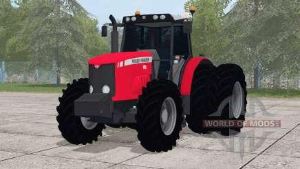 Massey Ferguson 7415〡dual rear wheels for Farming Simulator 2017