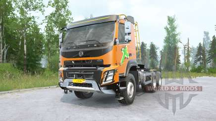 Volvo FMX 500 6x6 tractor Day Cab v2.0 for MudRunner