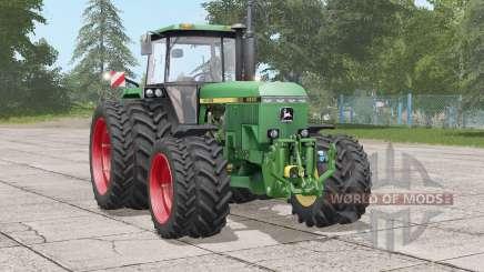 John Deere 4050 series〡wheels options for Farming Simulator 2017