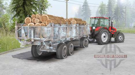 MTZ-1523 Belarus〡movable front axle for Spin Tires