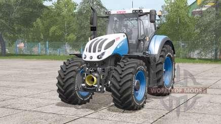 Steyr Terrus 6000 CVT〡tire inscription in white for Farming Simulator 2017