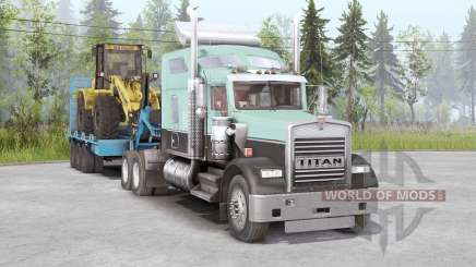 Kenworth W900 6x4 for Spin Tires