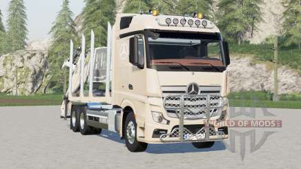 Mercedes-Benz Actros Timber Truck〡visual extras for Farming Simulator 2017