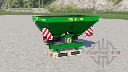 ZDT RM 1-070〡twin-disk spreader for Farming Simulator 2017