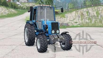 MTZ-82.1 Belarus when driving leaves traces for Farming Simulator 2015