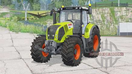 Claas Axion 850〡folding the front hook for Farming Simulator 2015