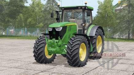 John Deere 6R series〡rear hydraulics revised for Farming Simulator 2017