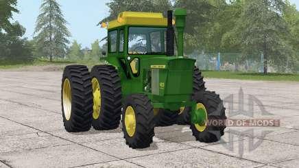 John Deere 4020 series〡selectable wheels for Farming Simulator 2017