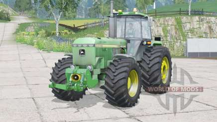 John Deere 4755〡dust from the wheels for Farming Simulator 2015
