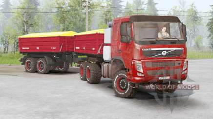 Volvo FM 460 6x6 rigid Day Cab 2010 for Spin Tires